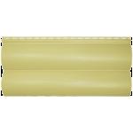 Сайдинг под блок хаус Альта-Профиль двойной узкий (лимонный)